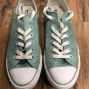 Converse Sparkly Mint Green Sneakers Size 7